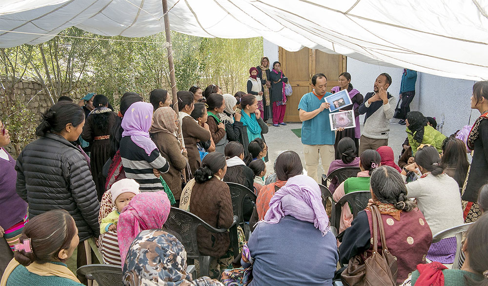 Education was an essential component of the camp and each woman received frank and insightful information on the causes, prevention and treatment of cervical cancer prior to their screening and treatments.