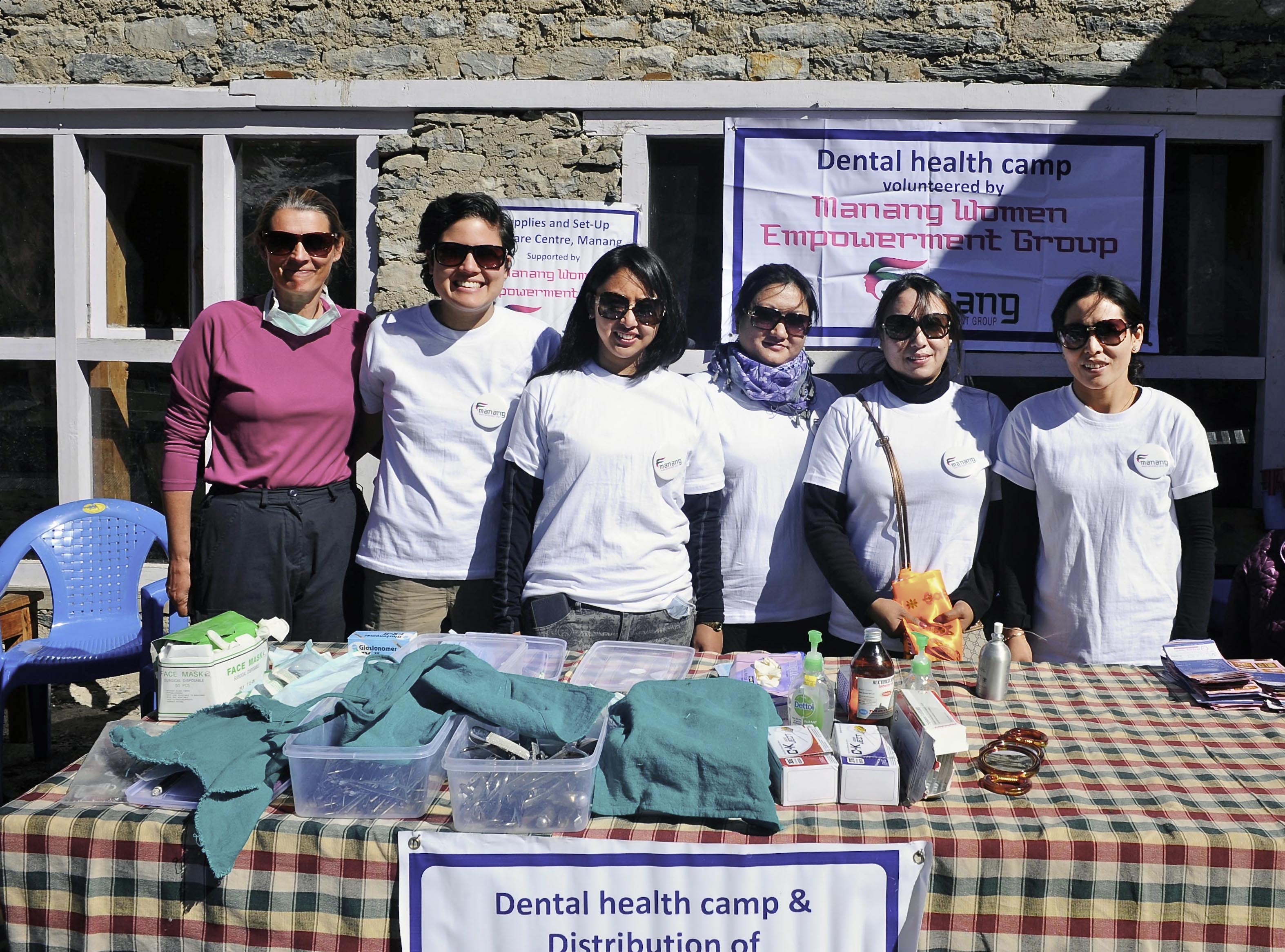 Dr Tsering Gurung conducts numerous dental camps in Nepal in