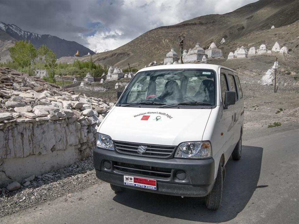 Our new passenger & cargo van will enable our women's health care teams to bring our screening, treatment and education efforts to the most remote villages in Ladakh